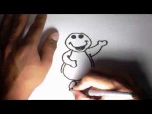 Cómo Dibuja Barney Paso a Paso Fácil