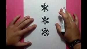 Dibujar Copos De Nieve Fácil Paso a Paso
