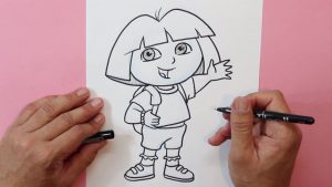 Dibujar Dora La Exploradora Fácil Paso a Paso