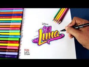 Cómo Dibuja El Logo De Soy Luna Paso a Paso Fácil
