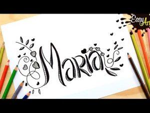 Dibujar El Nombre María Fácil Paso a Paso