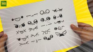 Dibujar Expresiones Kawaii Fácil Paso a Paso