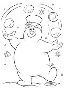 Cómo Dibuja Frosty Fácil Paso a Paso