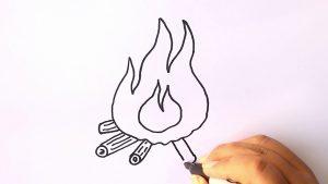 Cómo Dibuja Fuego Paso a Paso Fácil