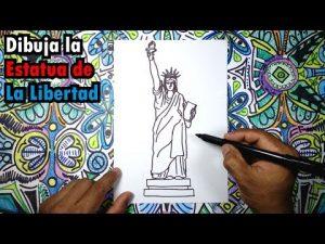 Dibujar La Estatua De La Libertad Paso a Paso Fácil