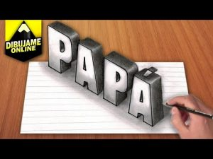 Dibujar La Palabra Papa En 3D Paso a Paso Fácil