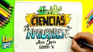 Dibuja La Portada De Ciencias Naturales Paso a Paso Fácil
