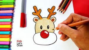 Cómo Dibujar Rudolph Paso a Paso Fácil