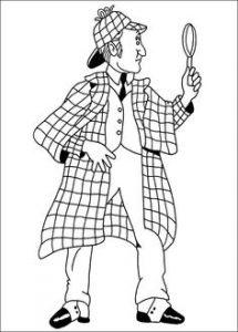 Dibuja Sherlock Holmes Paso a Paso Fácil