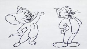 Dibujar Tom Y Jerry Paso a Paso Fácil
