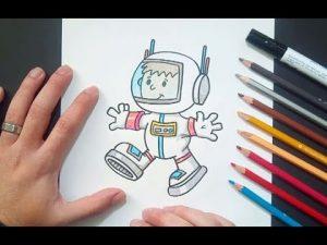 Dibujar Un Astronauta Paso a Paso Fácil