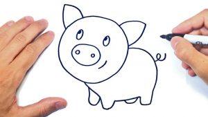 Cómo Dibujar Un Cerdo Fácil Paso a Paso
