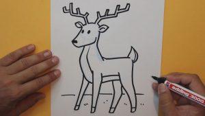 Dibuja Un Ciervo Paso a Paso Fácil