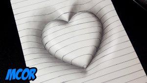Dibuja Un Corazón En 3D Paso a Paso Fácil