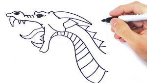 Cómo Dibujar Un Dragón Paso a Paso Fácil