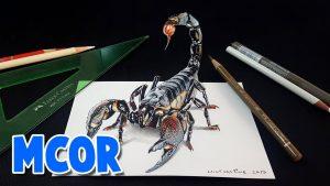 Dibuja Un Escorpión En 3D Fácil Paso a Paso
