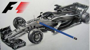 Dibuja Un Formula 1 Paso a Paso Fácil