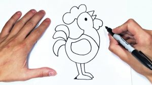 Cómo Dibujar Un Gallo Fácil Paso a Paso