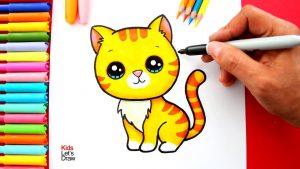 Cómo Dibuja Un Gatito Fácil Paso a Paso