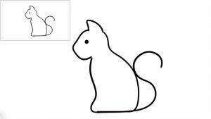 Cómo Dibuja Un Gato De Perfil Fácil Paso a Paso