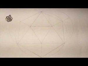 Cómo Dibujar Un Icosaedro Paso a Paso Fácil