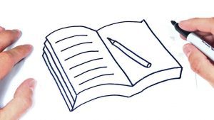 Dibujar Un Libro Abierto Paso a Paso Fácil