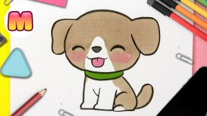 Cómo Dibujar Un Perro Kawaii Paso a Paso Fácil