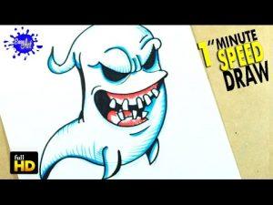 Cómo Dibuja Un Siniestro Fantasma Para Halloween Fácil Paso a Paso
