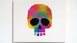 Dibujar Una Calavera Multicolor Para Decorar Fácil Paso a Paso