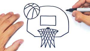 Cómo Dibuja Una Canasta De Baloncesto Paso a Paso Fácil