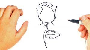 Cómo Dibujar Una Rosa Sencilla Paso a Paso Fácil