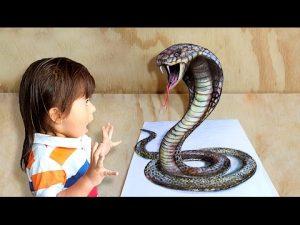 Dibuja Una Serpiente Con Efecto 3D Paso a Paso Fácil