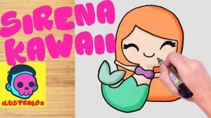 Dibujar Una Sirena Kawaii Fácil Paso a Paso