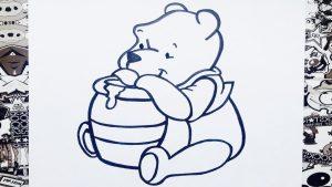Cómo Dibujar Winnie Pooh Fácil Paso a Paso