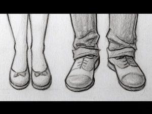 Cómo Dibuja Zapatos De Frente Fácil Paso a Paso