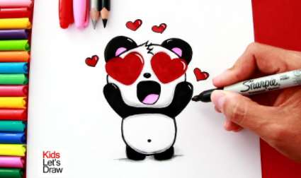 Dibujar Para San Valentín Fácil Paso a Paso