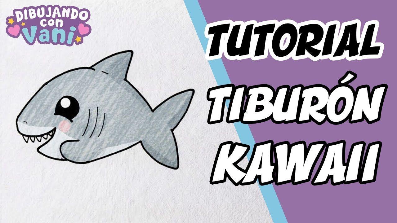 COMO DIBUJAR TIBURON KAWAII DIBUJOS ANIME FACILES PASO A PASO how to - - - Dibujo de tiburón Dibujos Dibujos kawaii, dibujos de Un Tiburón, como dibujar Un Tiburón paso a paso