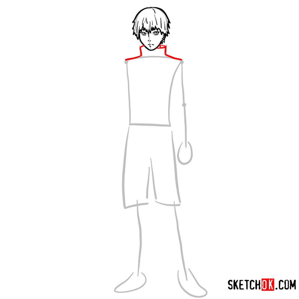 Cómo dibujar el crecimiento completo de Ken Kaneki | Tokyo Ghoul - paso 05