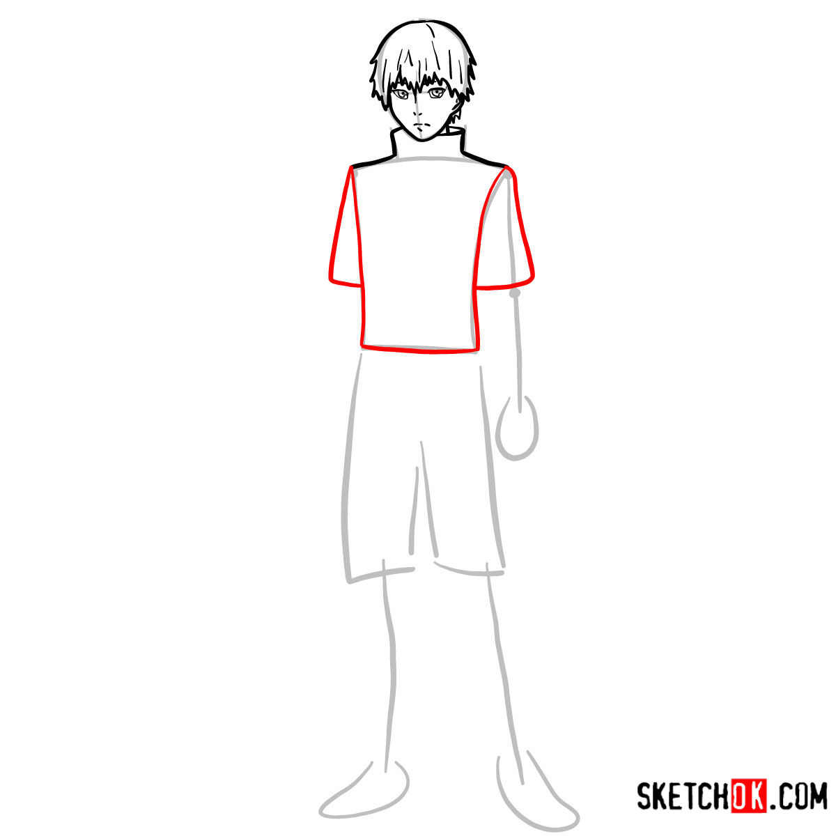 Cómo dibujar el crecimiento completo de Ken Kaneki | Tokyo Ghoul - paso 06