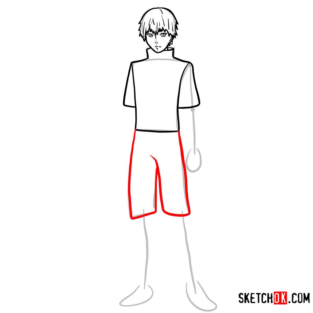 Cómo dibujar el crecimiento completo de Ken Kaneki | Tokyo Ghoul - paso 07