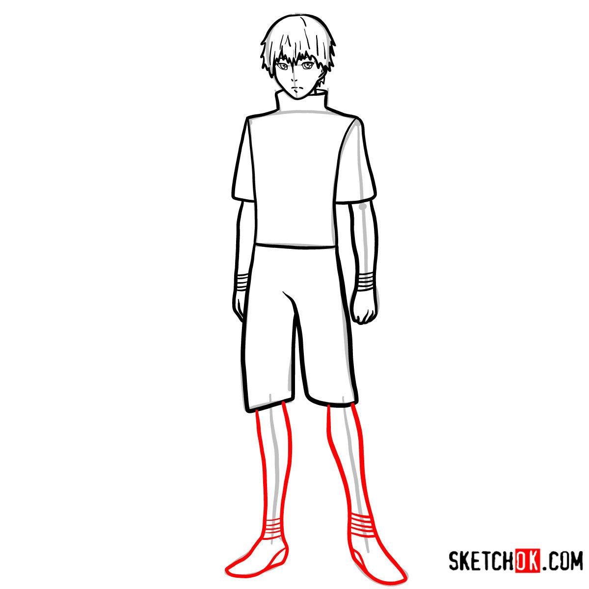 Cómo dibujar el crecimiento completo de Ken Kaneki | Tokyo Ghoul - paso 09