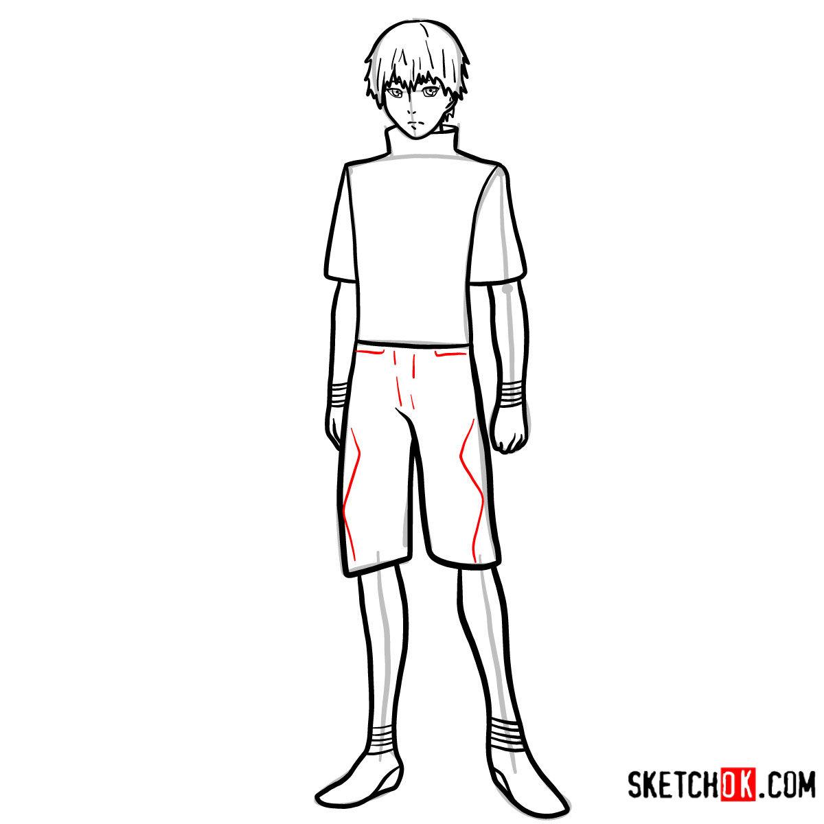 Cómo dibujar el crecimiento completo de Ken Kaneki | Tokyo Ghoul - paso 10