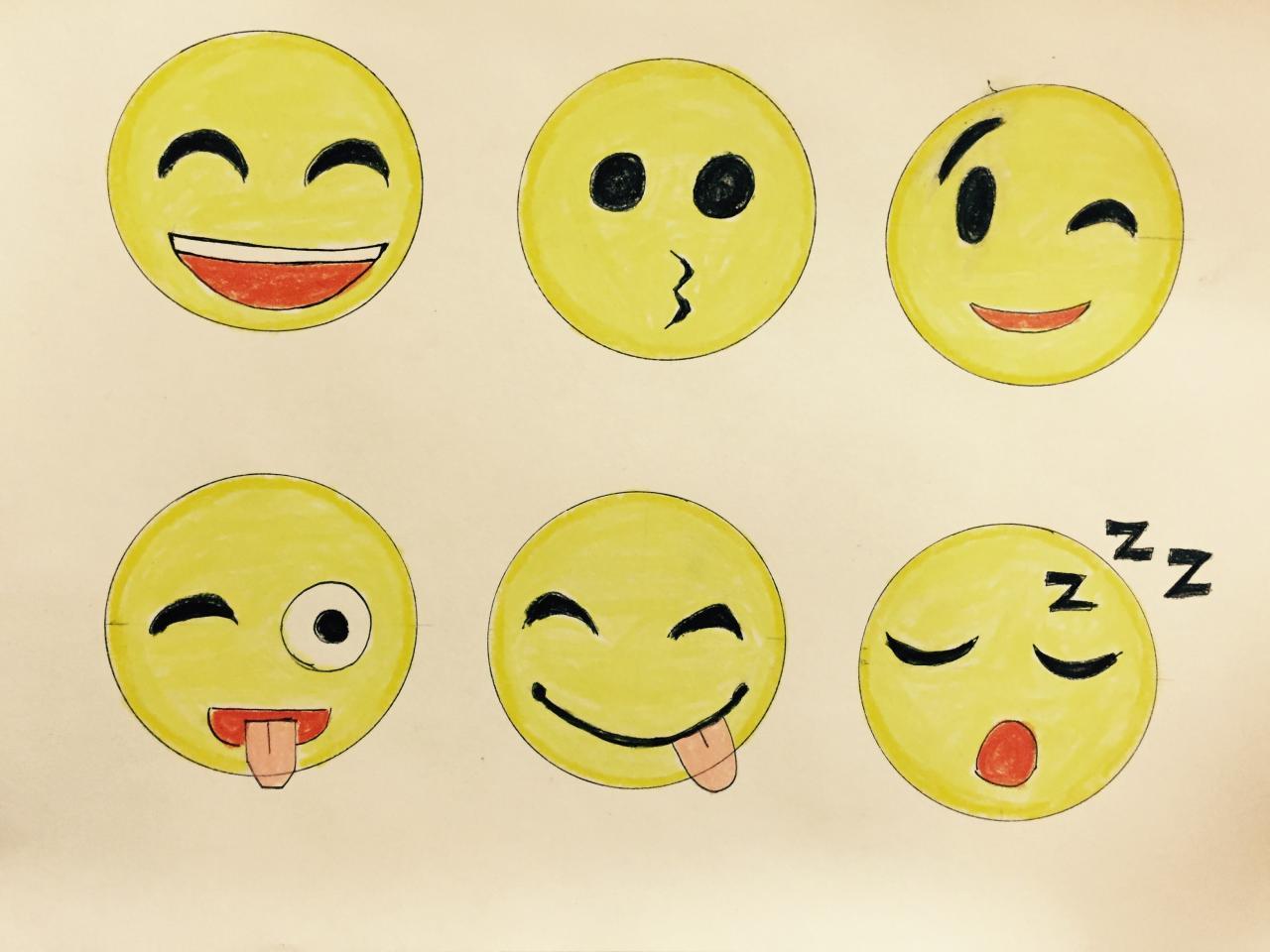 Manera de dibujar caras emojis