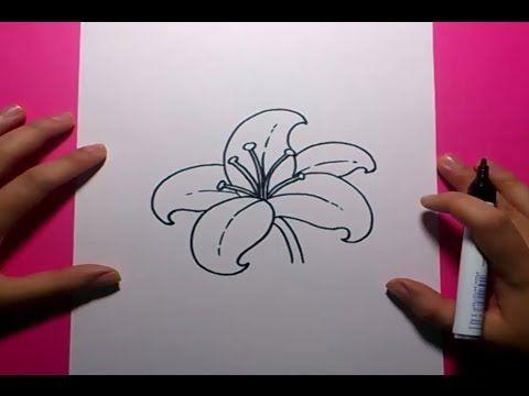 Como dibujar una flor paso a paso 9  How to draw a flower 9  Dibujos  Como  dibujar flores  Dibujos garabateados, dibujos de Flores Sencillas, como dibujar Flores Sencillas paso a paso