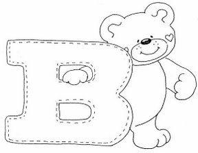 letra B dibujos de letras del abecedario para colorear  Abecedario  infantil  Moldes de letras  Alfabeto bordado, dibujos de Un Oso A Partir De La Letra B, como dibujar Un Oso A Partir De La Letra B paso a paso