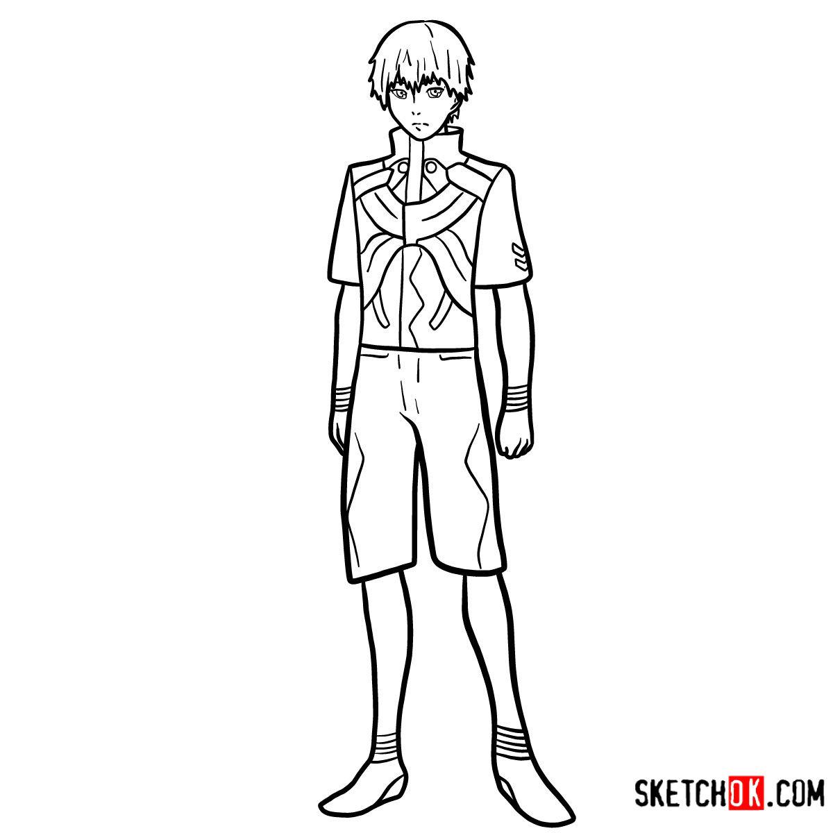 Cómo dibujar el crecimiento completo de Ken Kaneki | Tokyo Ghoul - colorear