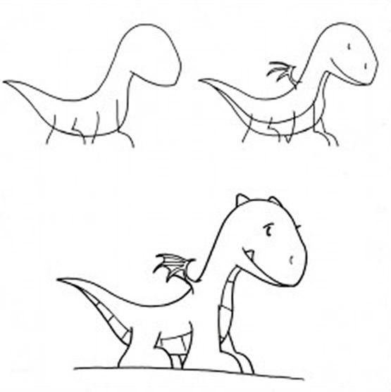 Dibujo para colorear Como Dibujar pequeño Dragón (comic)  Dibujos  Dragon  para dibujar  Dragones, dibujos de Un Dragón Infantil, como dibujar Un Dragón Infantil paso a paso