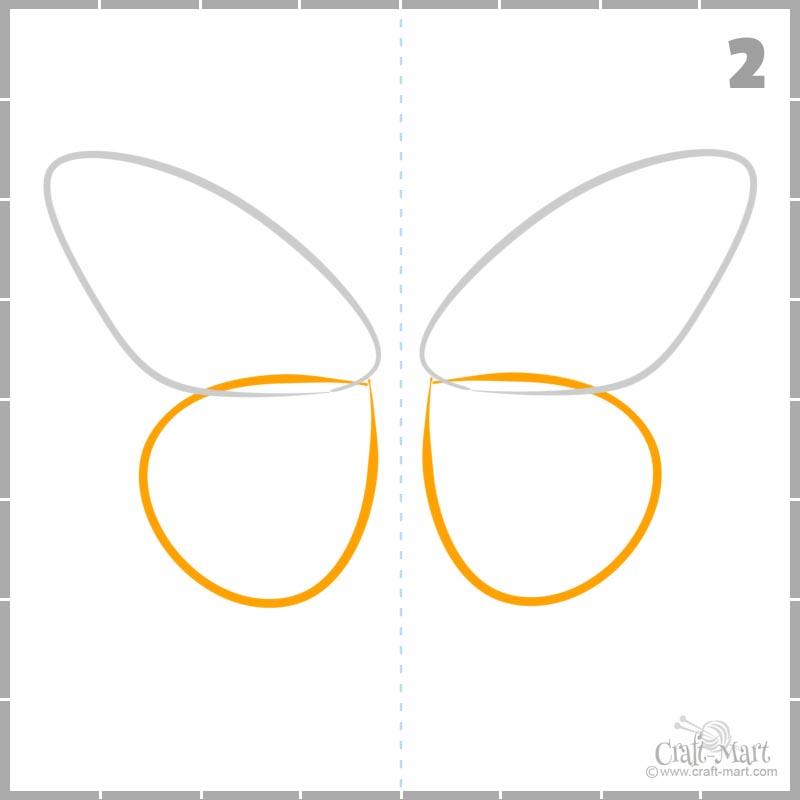 Cómo dibujar alas traseras de una mariposa