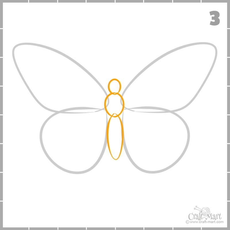 Cómo dibujar el cuerpo de una mariposa