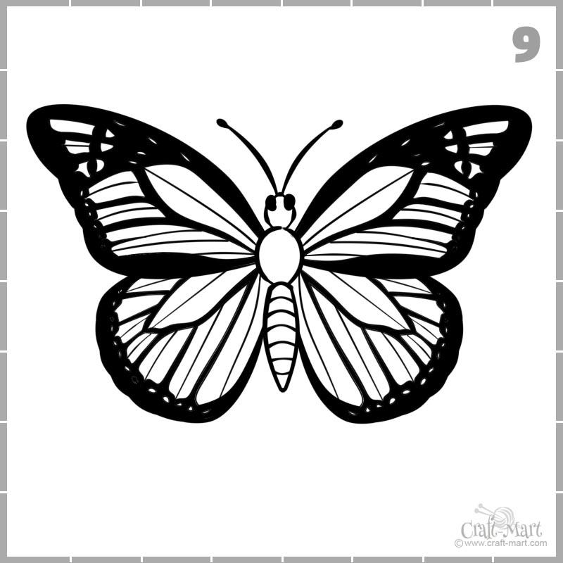 dibujar alas de mariposa